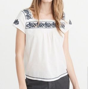 Abercrombie and Fitch Embroidered Blouse